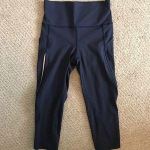 Lululemon Hi Rise Navy Blue Crop Leggings Size 4